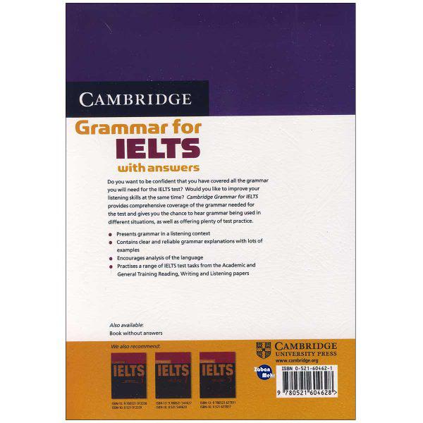 خرید                      کتاب Cambridge English Grammar For Ielts اثر Dِiana Hopkins and Pauline Cullen انتشارات زبان مهر