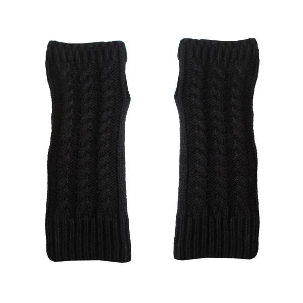 ساق دست بافتنی زنانه مدل NIM-MAR کد 30774 رنگ مشکی