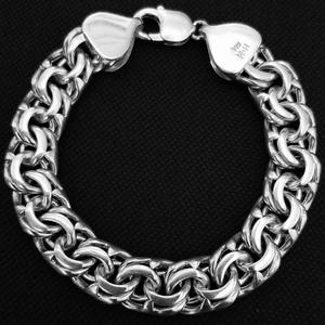 دستبند نقره مردانهکد HN62