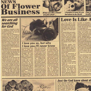 کاغذ کادو مدل طرح روزنامه عشق