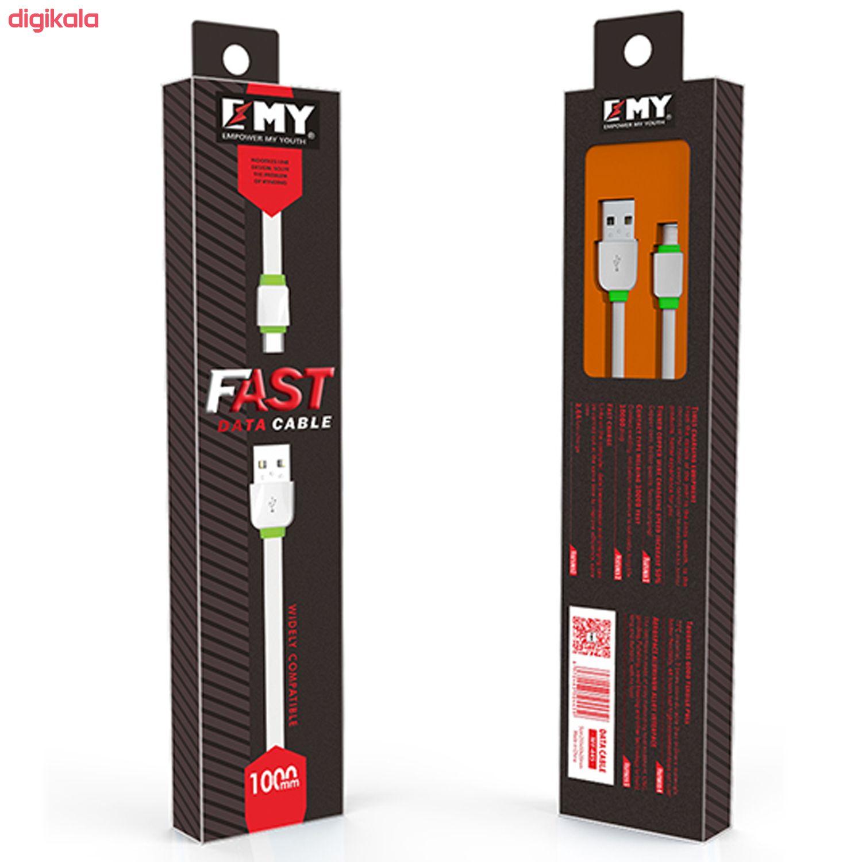 کابل تبدیل USB به microUSB امی مدل MY-445 طول 1 متر main 1 3
