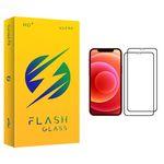 محافظ صفحه نمایش فلش مدل +HD مناسب برای گوشی موبایل اپل iPhone 12 بسته 2 عددی