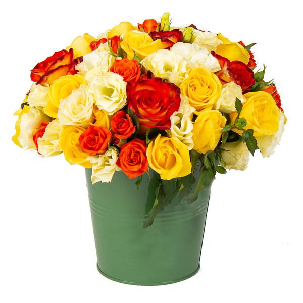 سبد گل طبیعی مدل آتوسا