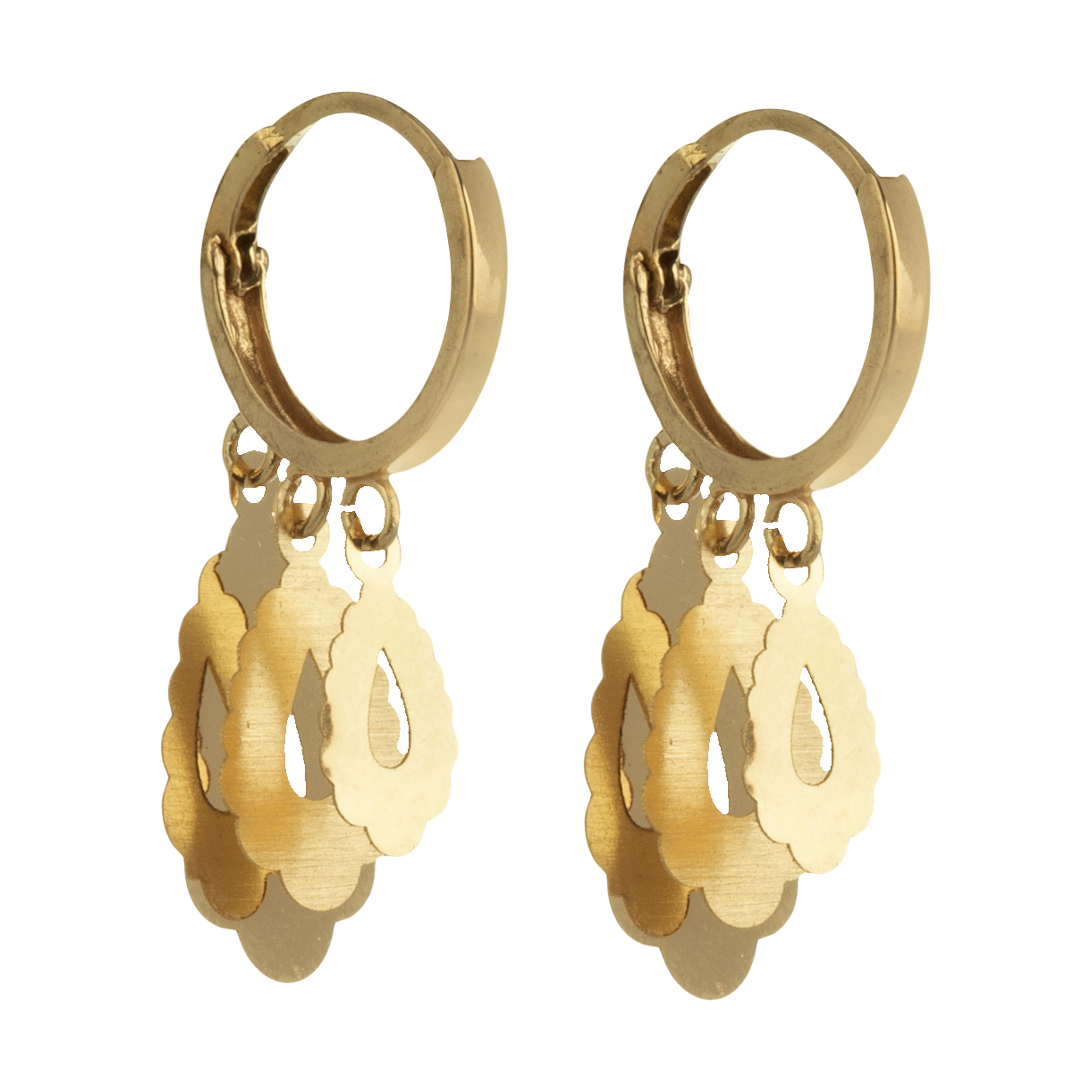 گوشواره طلا 18 عیار زنانه  گالری یارطلا کد AG27-1