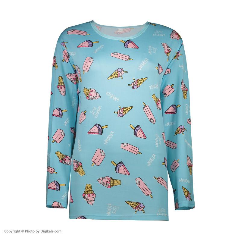 ست تی شرت و شلوار زنانه کد klnqsh- blzpnt.007.1