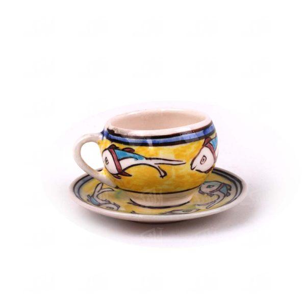 فنجان و نعلبکی سرامیکی آرانیک مدل ماهی کد 1007800020