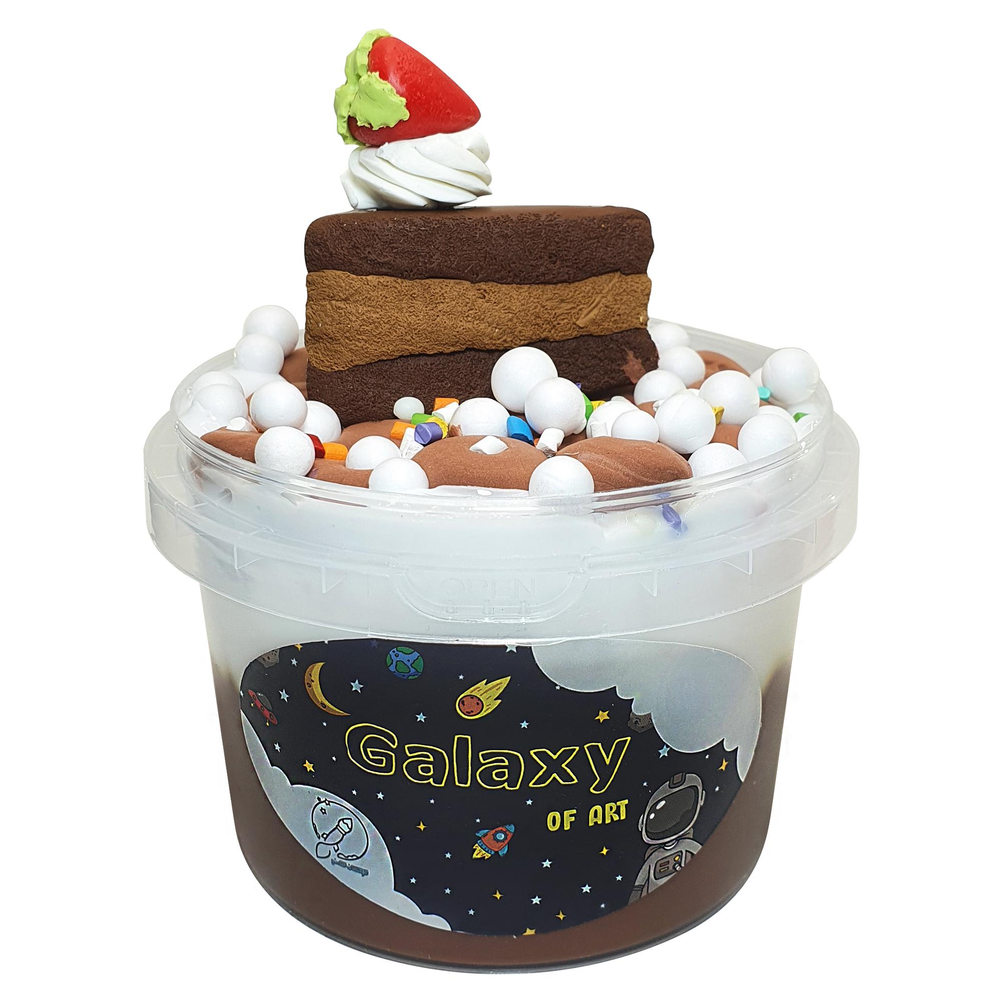 ژل بازی کهکشان هنر مدل کیک شکلاتی