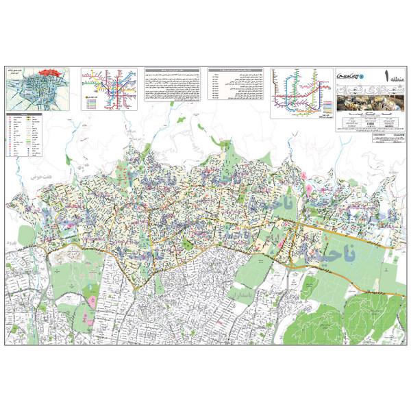 نقشه انتشارات ایرانشناسی مدل منطقه 1 شهرداری تهران کد 401