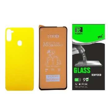 محافظ صفحه نمایش مات و پشت گوشی روبیکس مدل CR-A11مناسب برای گوشی موبایل سامسونگ Galaxy A11