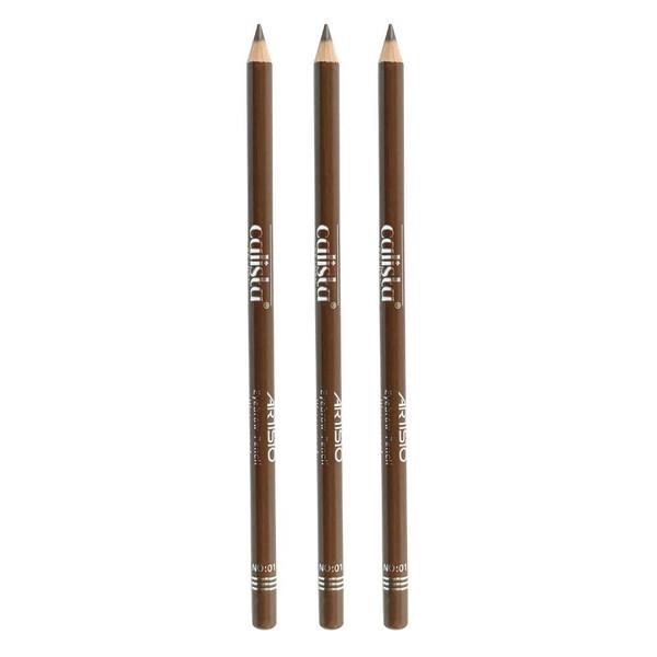 مداد ابرو کالیستا بیوتی شماره 01 مجموعه 3 عددی