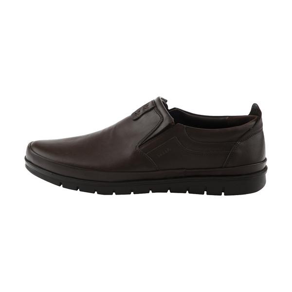 کفش روزمره مردانه مارال چرم مدل newforce-Brown