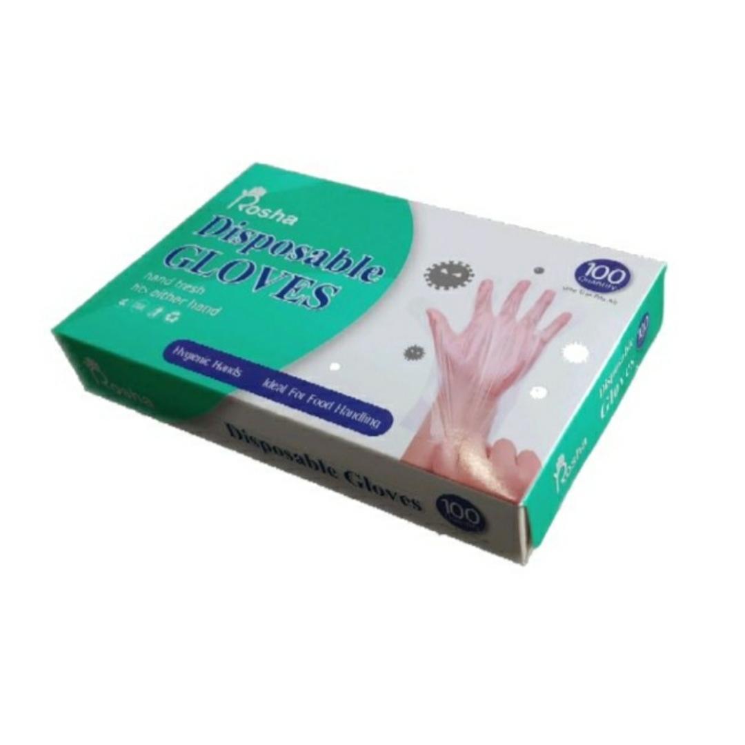 دستکش یکبار مصرف روشا کد 542 بسته 4 عددی