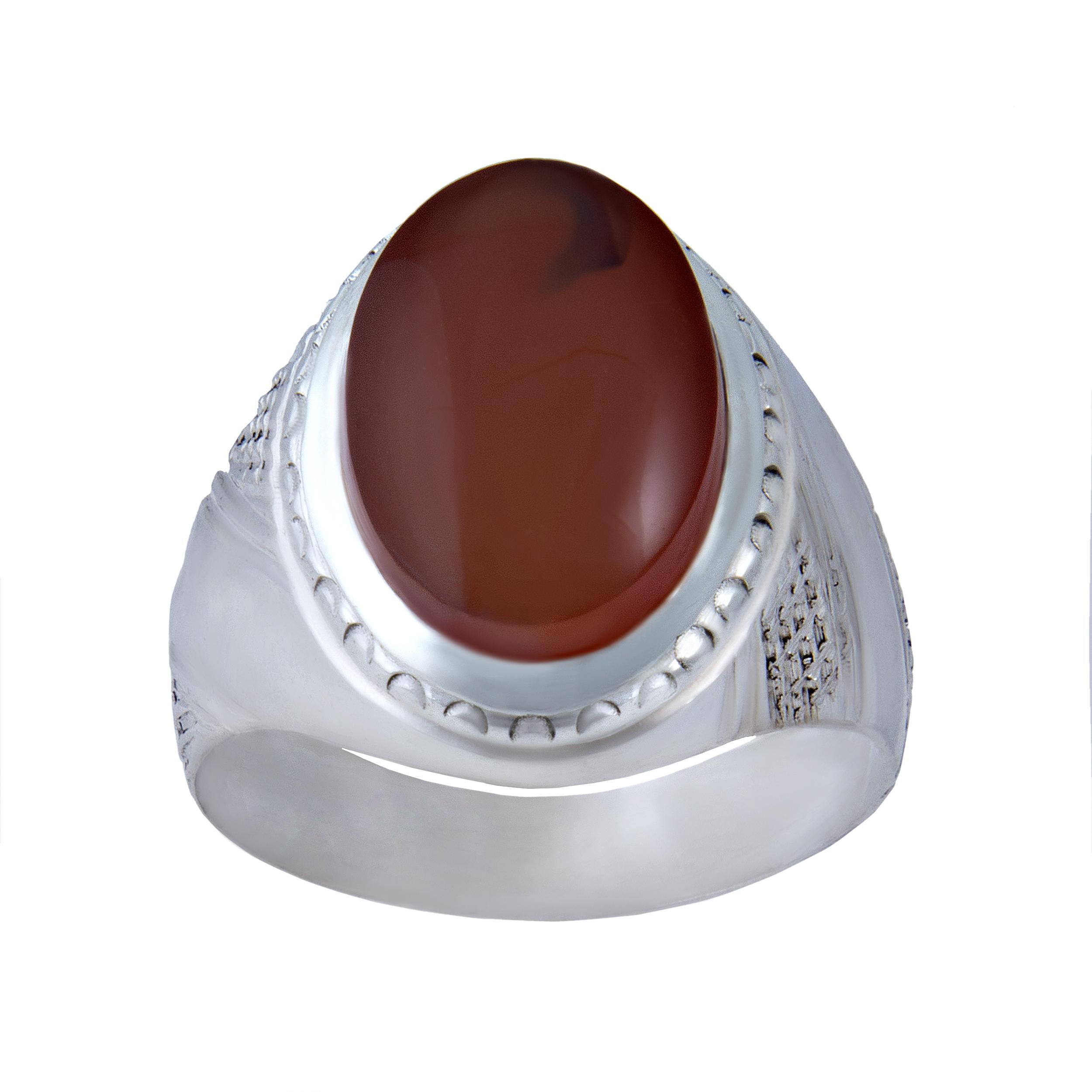 انگشتر نقره مردانه بازرگانی میلادی کد  AM_044