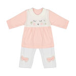 ست پیراهن و شلوار نوزادی دخترانه بیبی طوطی مدل Az01