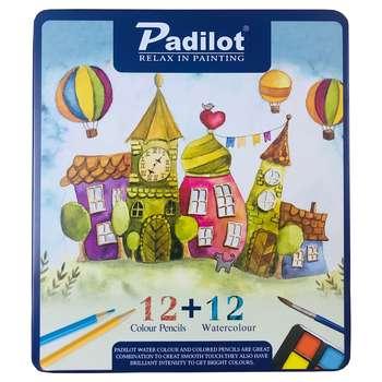 مداد رنگی 12رنگ و آبرنگ پادیلوت مدل خانه کد 1