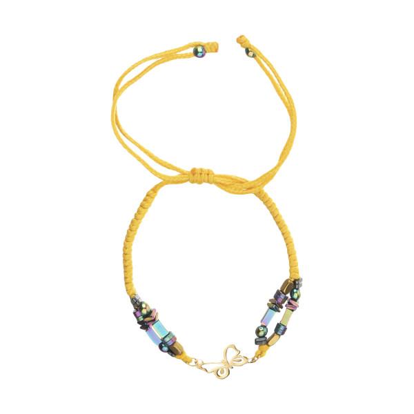 دستبند طلا 18 عیار زنانه نیوانی مدل Ba1004