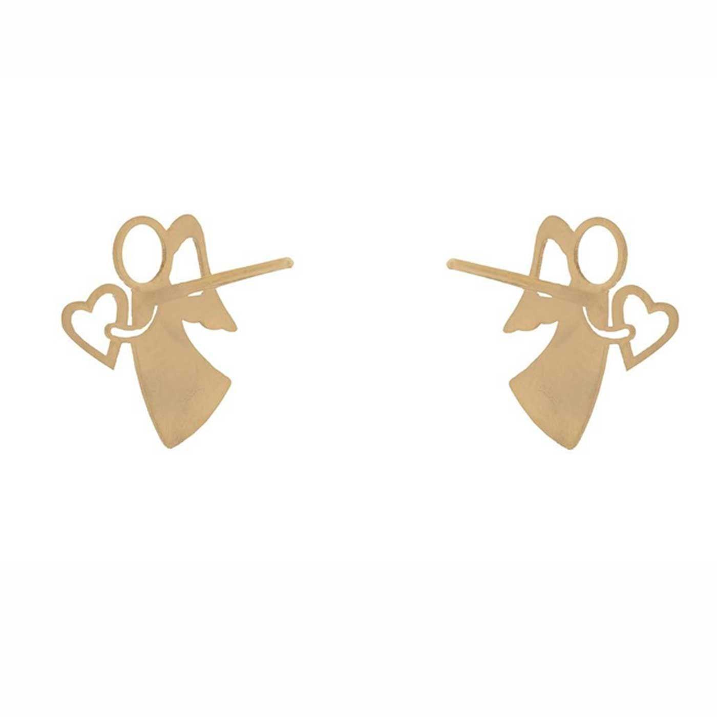 گوشواره طلا 18 عیار زنانه کانیار گالری کد GOA105 -  - 5