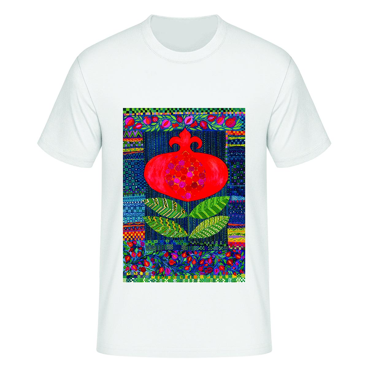 تی شرت آستین کوتاه زنانه مدل شب یلدا کد tps42