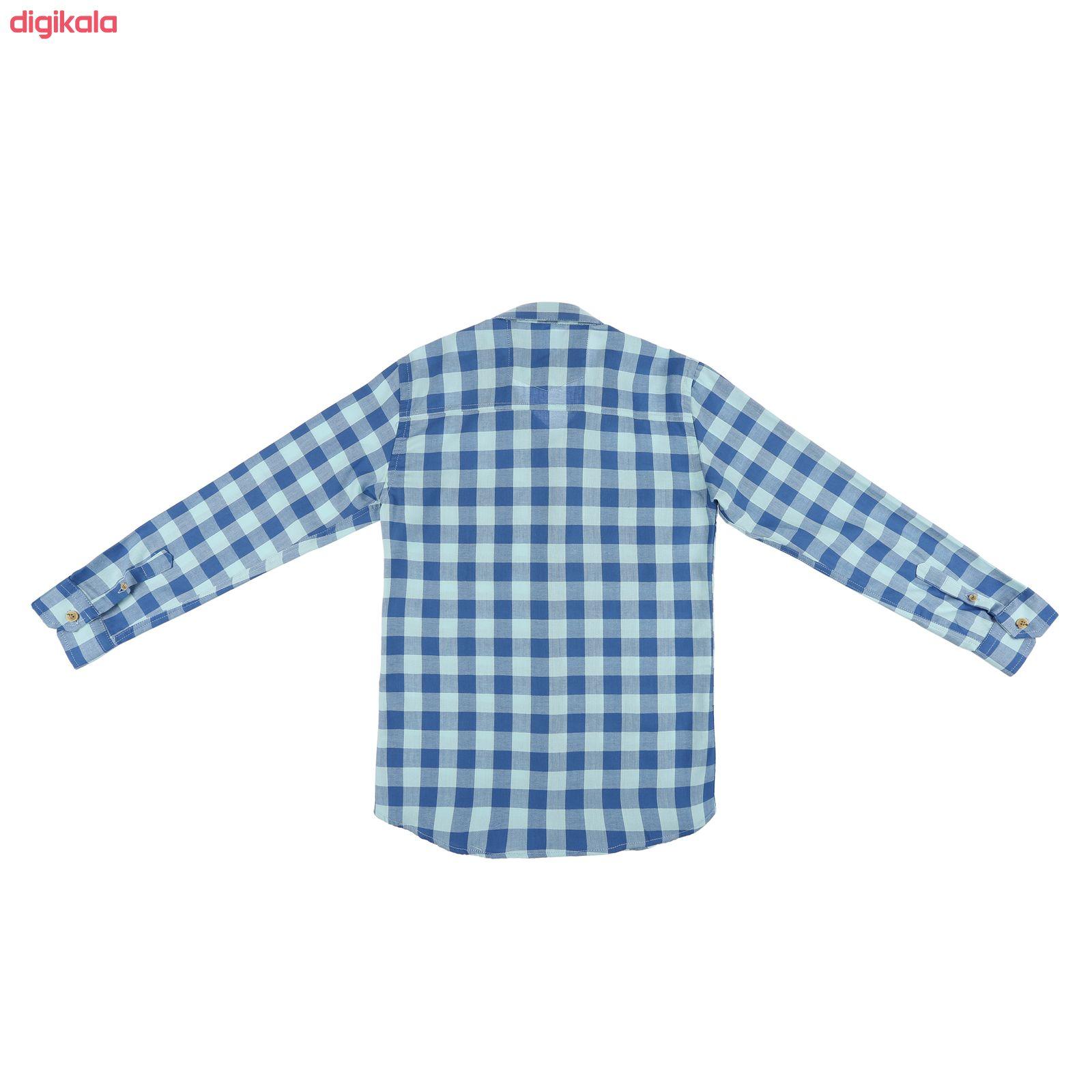 پیراهن پسرانه ناوالس کد D-20119-BL main 1 2