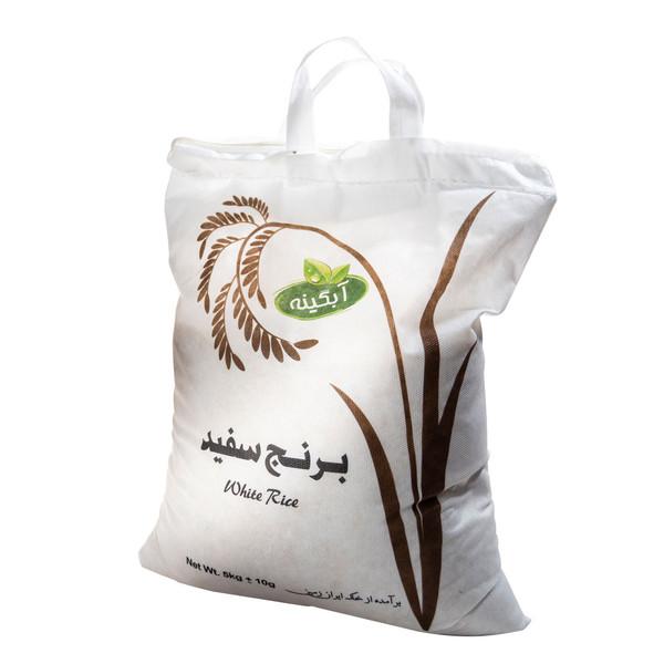 برنج سفید طارم سبز آبگینه - 5 کیلوگرم