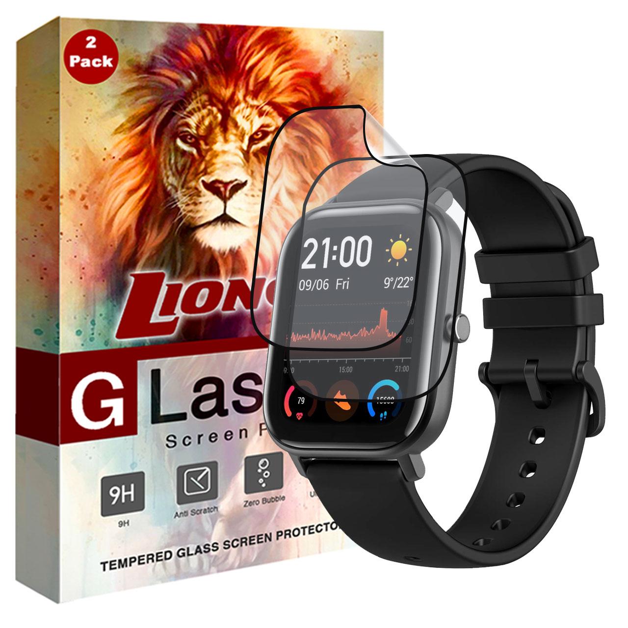 محافظ صفحه نمایش 3D لایونکس مدل FSP مناسب برای ساعت هوشمند شیائومی Huami Amazfit GTS بسته دو عددی