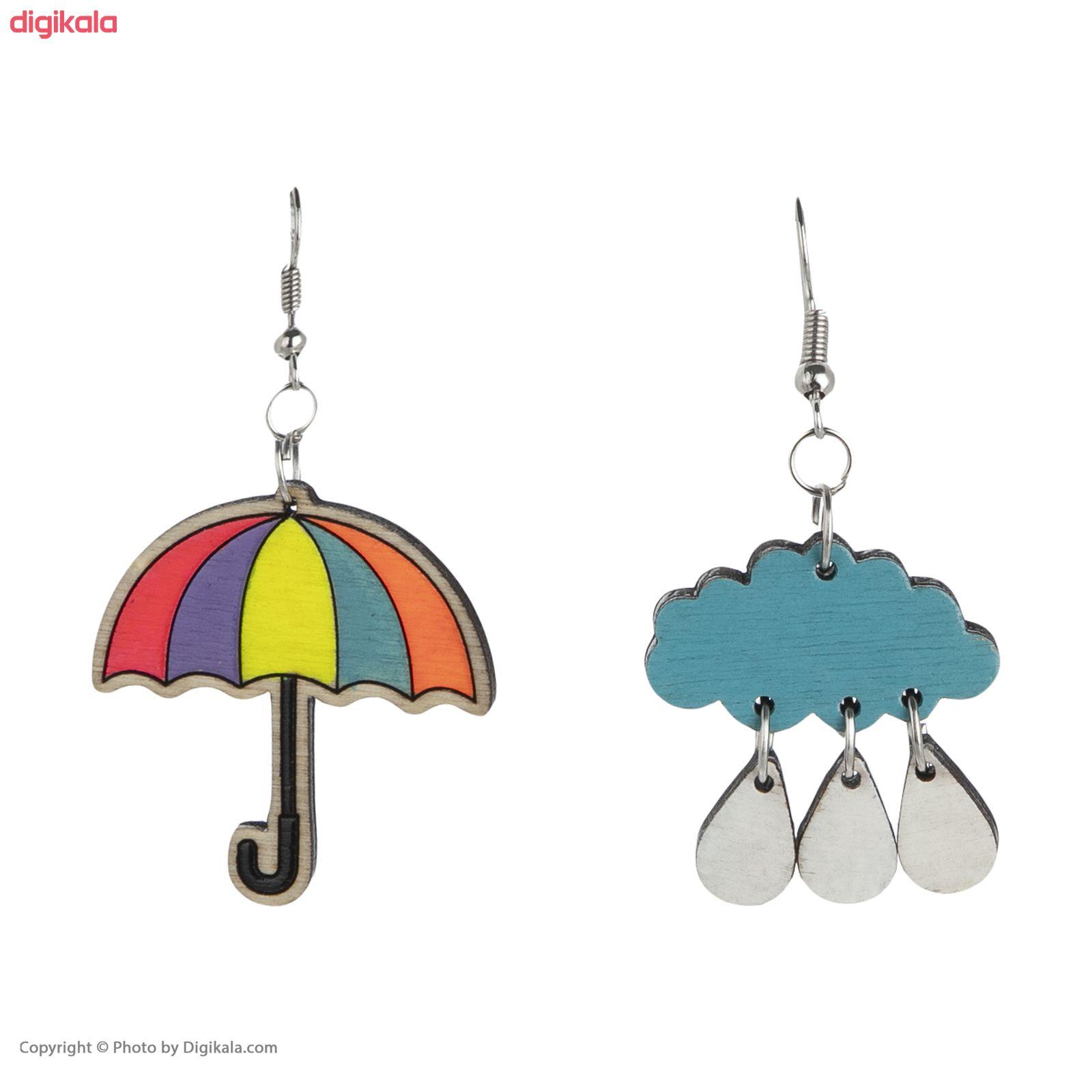 گوشواره زنانه مدل چتر و باران کد 012 main 1 5