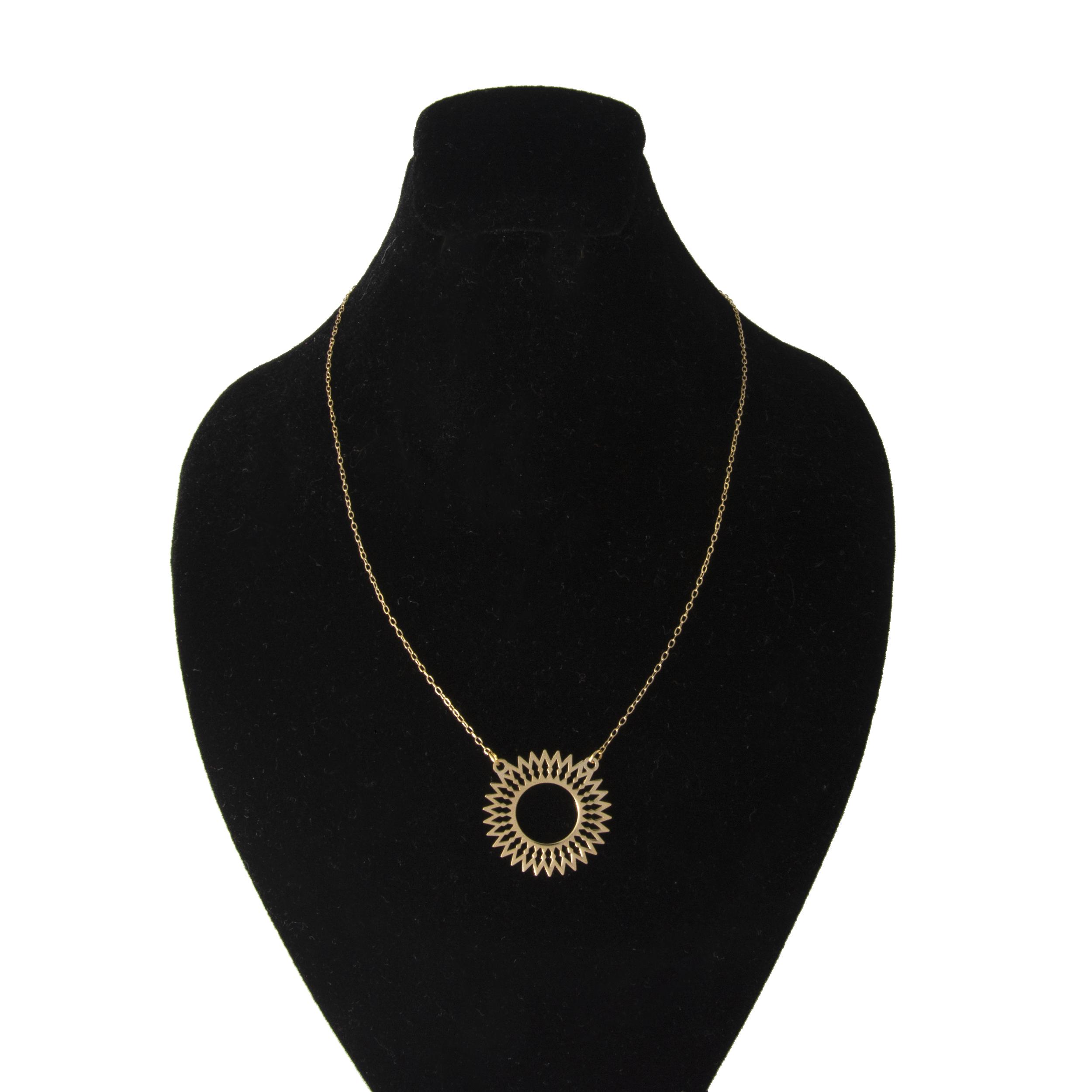گردنبند طلا 18 عیار زنانه کد 67083
