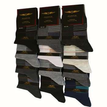 جوراب مردانه مدل 204 مجموعه 12 عددی