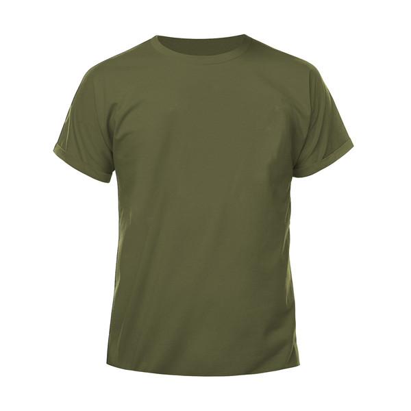 تیشرت آستین کوتاه مردانه کد H02 رنگ سبز زیتونی