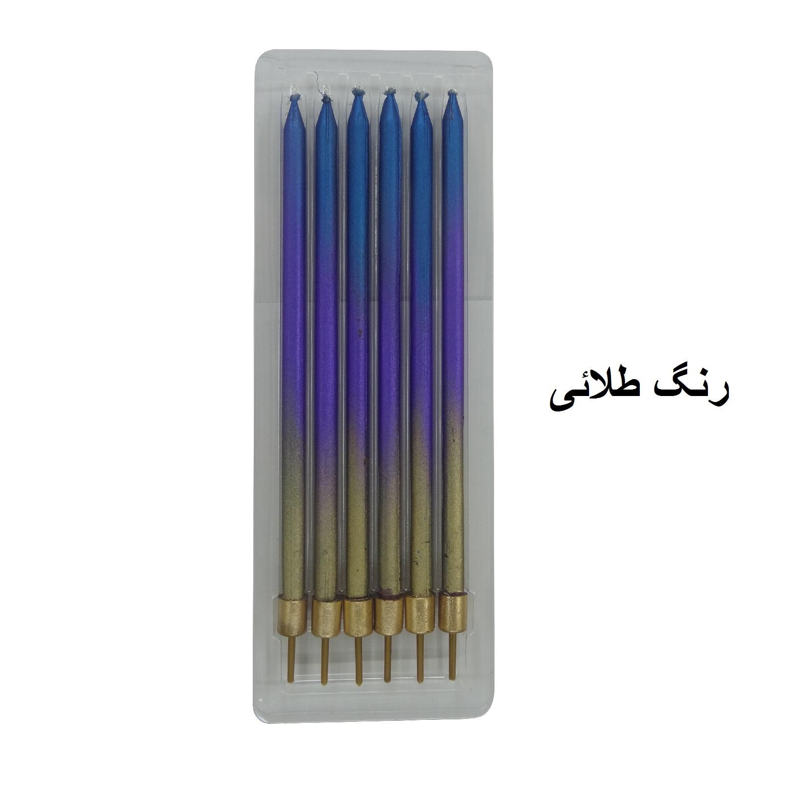 شمع تولد طرح مداد کد 1135 بسته 6 عددی