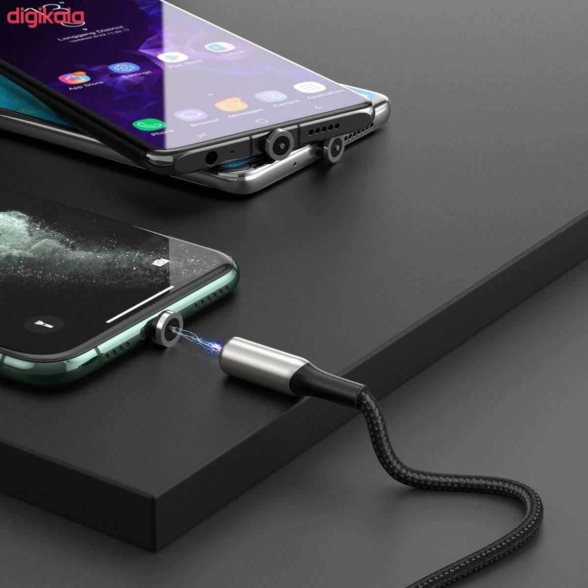 کابل تبدیل USB به USB-C / MicroUSB / لایتنینگ باسئوس مدل TZCAXC-F01 طول 1 متر main 1 1