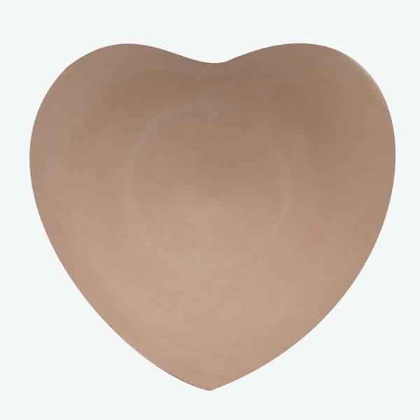 بشقاب سفالی دیوارکوب مدل قلب