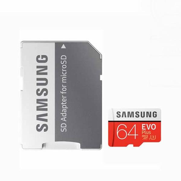 کارت حافظه microSDXC سامسونگ مدل Evo PIUS کلاس 10 استاندارد UHS-I U3 سرعت 80MBps ظرفیت 64 گیگابایت به همراه آداپتور SD                     غیر اصل