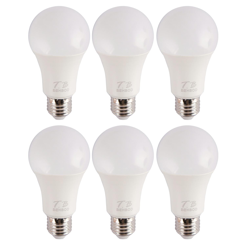 لامپ ال ای دی 12 وات بهبد مدل A99 پایه E27 بسته 6 عددی
