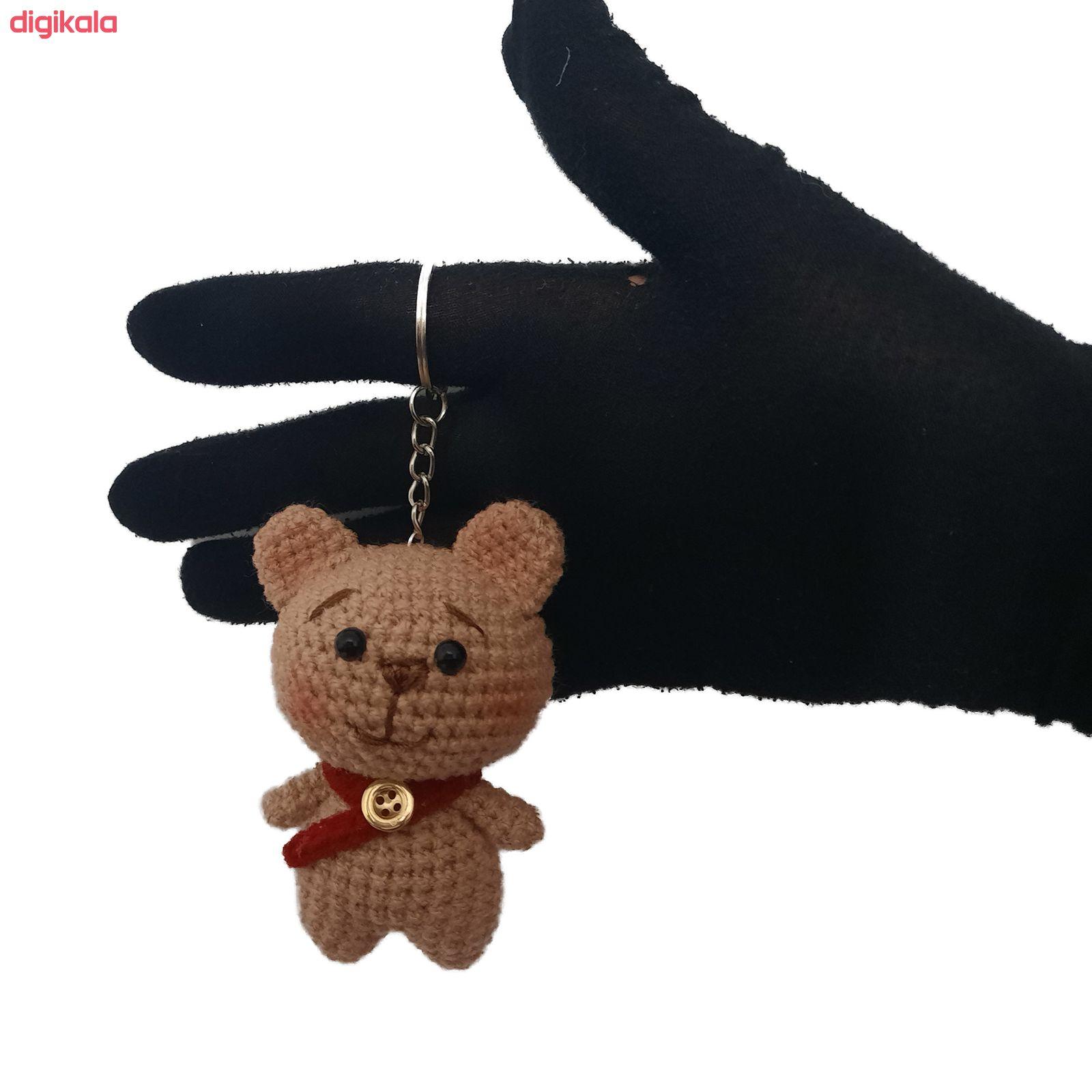 عروسک بافتنی مدل خرس کد 001