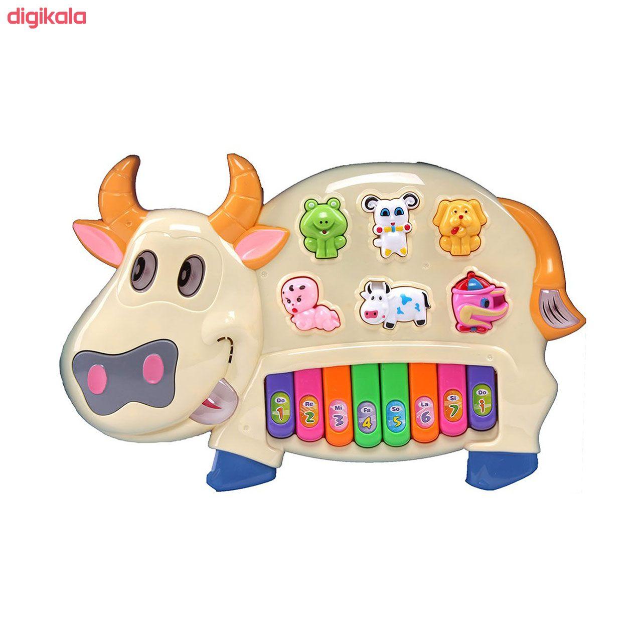 اسباب بازی آموزشی ارگ موزیکال طرح حیوانات مدل Happy Cow main 1 4