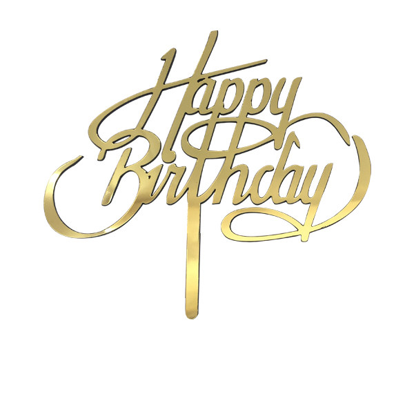 تاپر تزیین کیک طرح تولد مبارک کد T026
