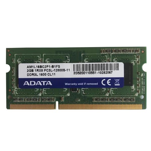 رم لپ تاپ DDR3L تک کاناله 1600 مگاهرتز CL11 ای دیتا مدل AM1L16BC2P1-B1FS-PC3L-12800S-11 ظرفیت 2 گیگابایت