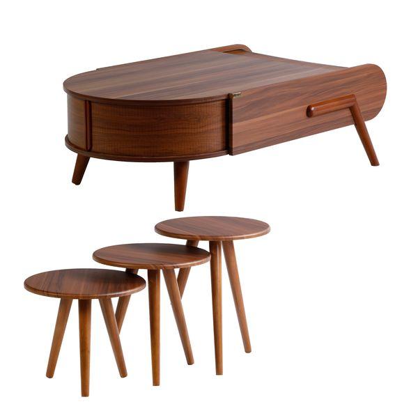 میز پذیرایی ررویال.سی.او مدل تسلا مجموعه 4 عددی