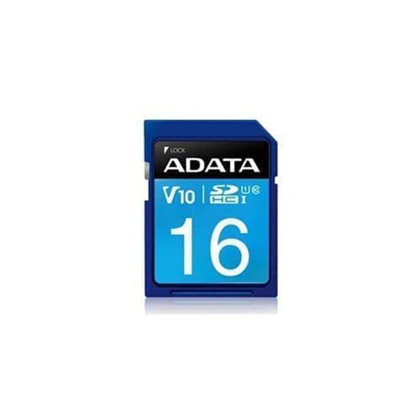 کارت حافظه SDHC ای دیتا مدل Premier کلاس 10 استاندارد UHS-I U1 سرعت 100MBps ظرفیت 16 گیگابایت