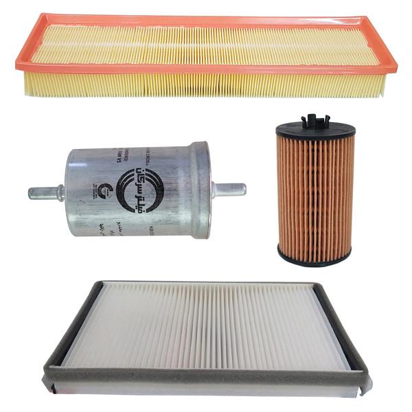 فیلتر هوا خودرو سرکان مدل SF1465مناسب برای سمند توربو  به همراه فیلتر روغن و فیلتر کابین و فیلتر بنزین