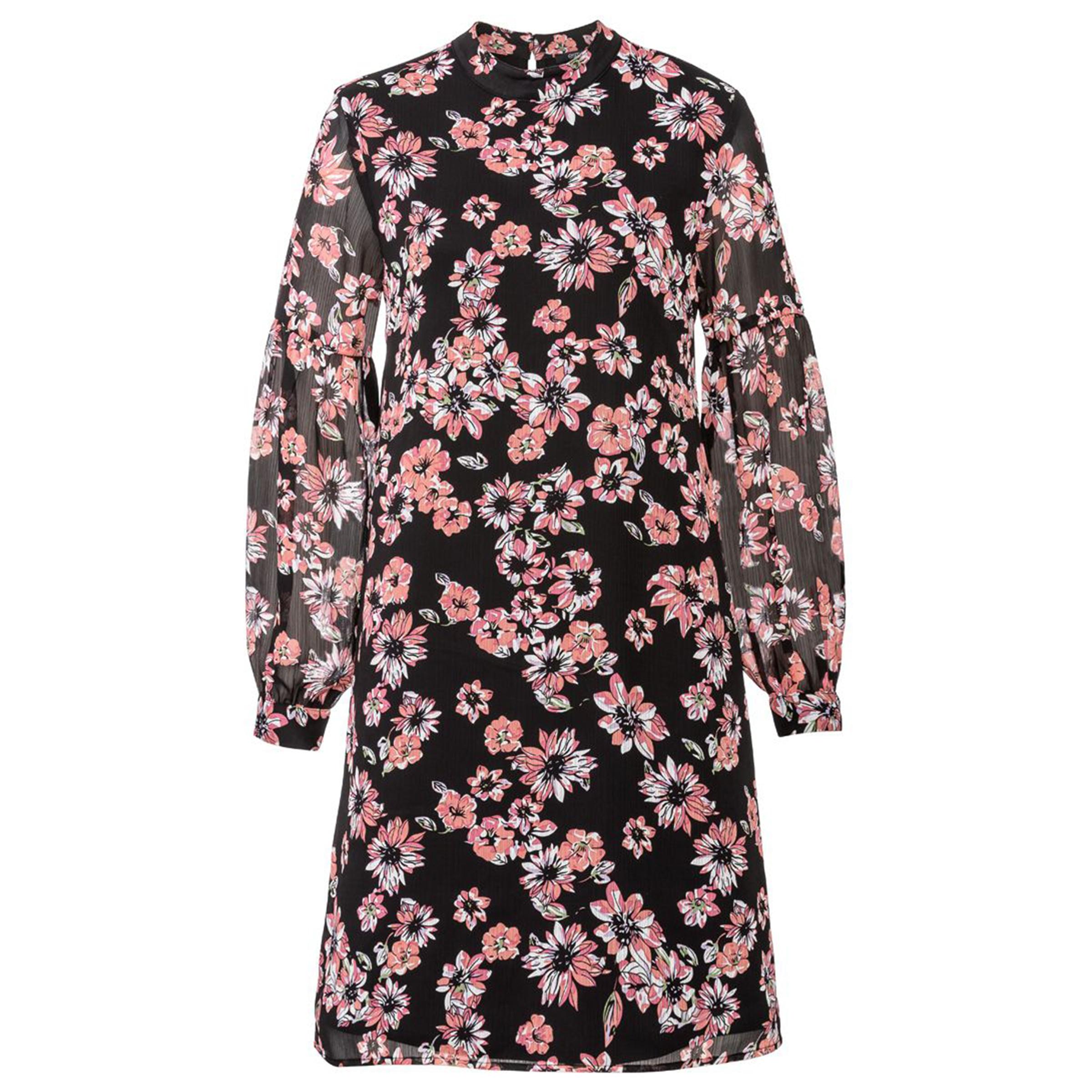 پیراهن زنانه اسمارا طرح شکوفه مدل SpringBLK