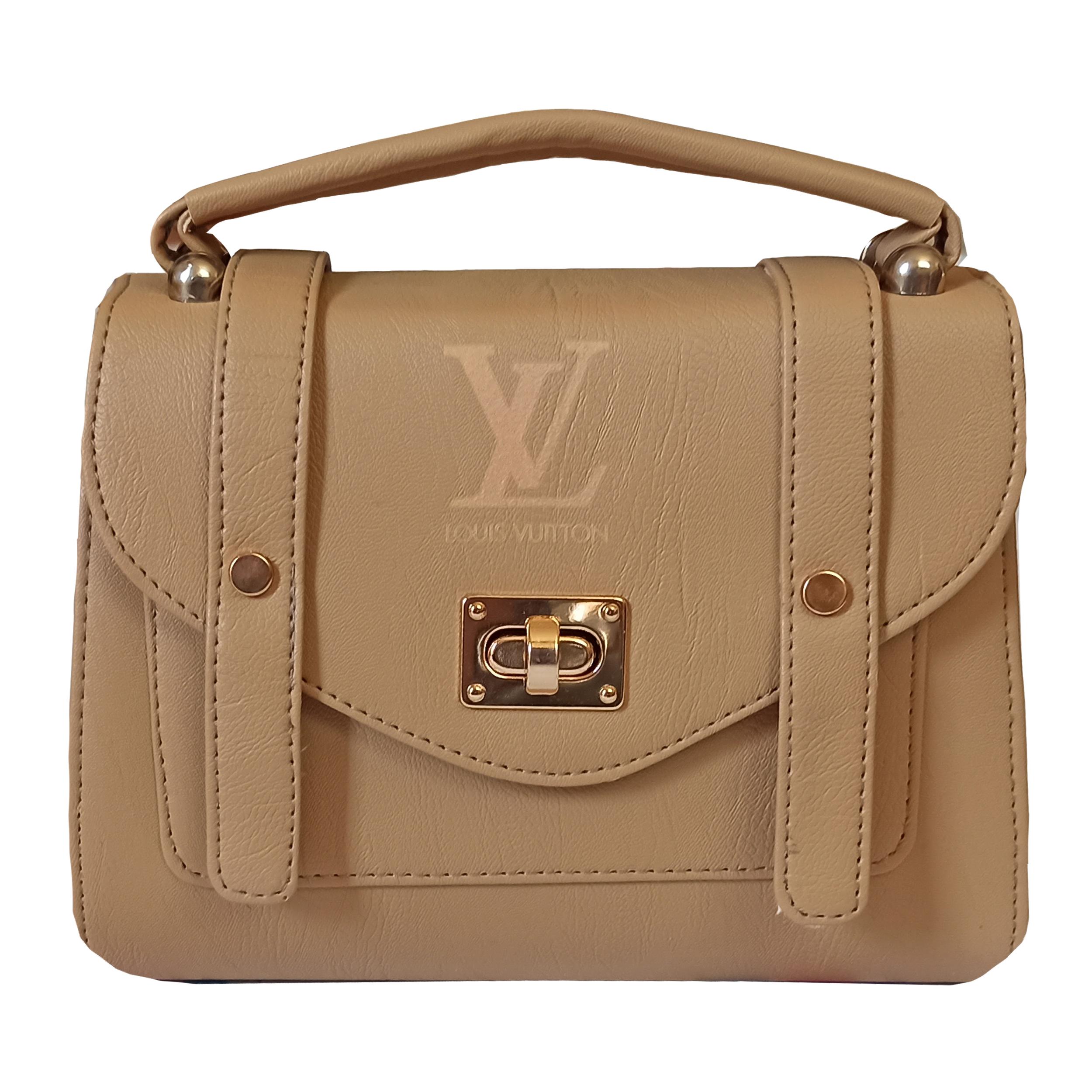 کیف دوشی  زنانه لویی ویتون مدل دکمه ای