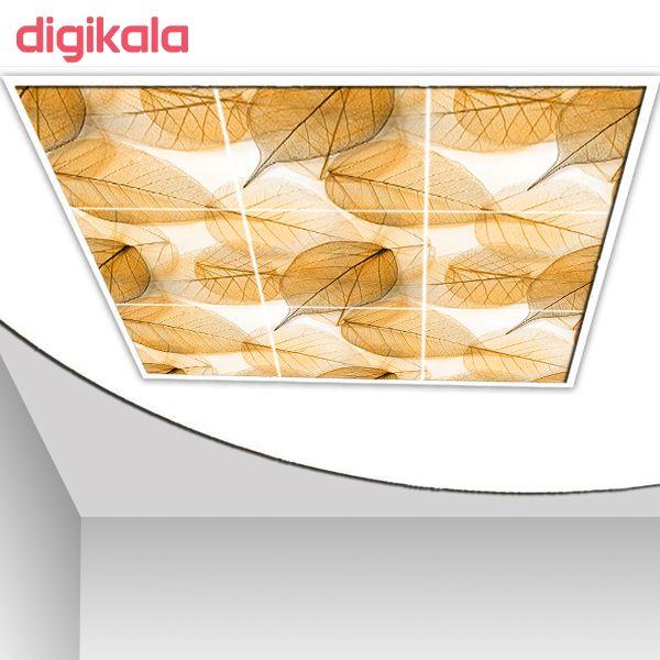خرید اینترنتی با تخفیف ویژه   تایل سقفی آسمان مجازی طرح برگ درختان کد ST 4037-9 سایز 60x60 سانتی متر مجموعه 9 عددی