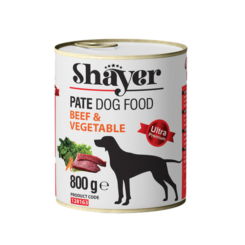 کنسرو غذای سگ شایر مدل Beef&Vegetable وزن 800 گرم