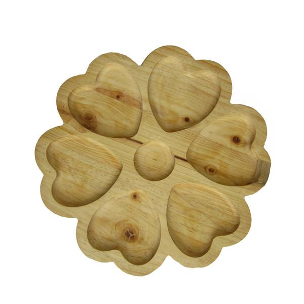اردو خوری چوبی مدل گل قلبی کد Rd05