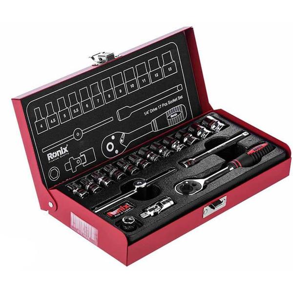 مجموعه 17 عددی آچار و سری بکس رونیکس مدل RH-2617
