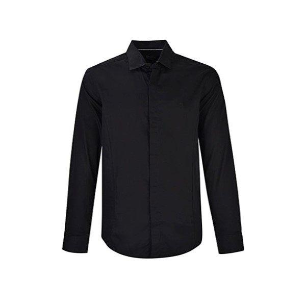 پیراهن آستین بلند مردانه بادی اسپینر مدل 2679 رنگ مشکی