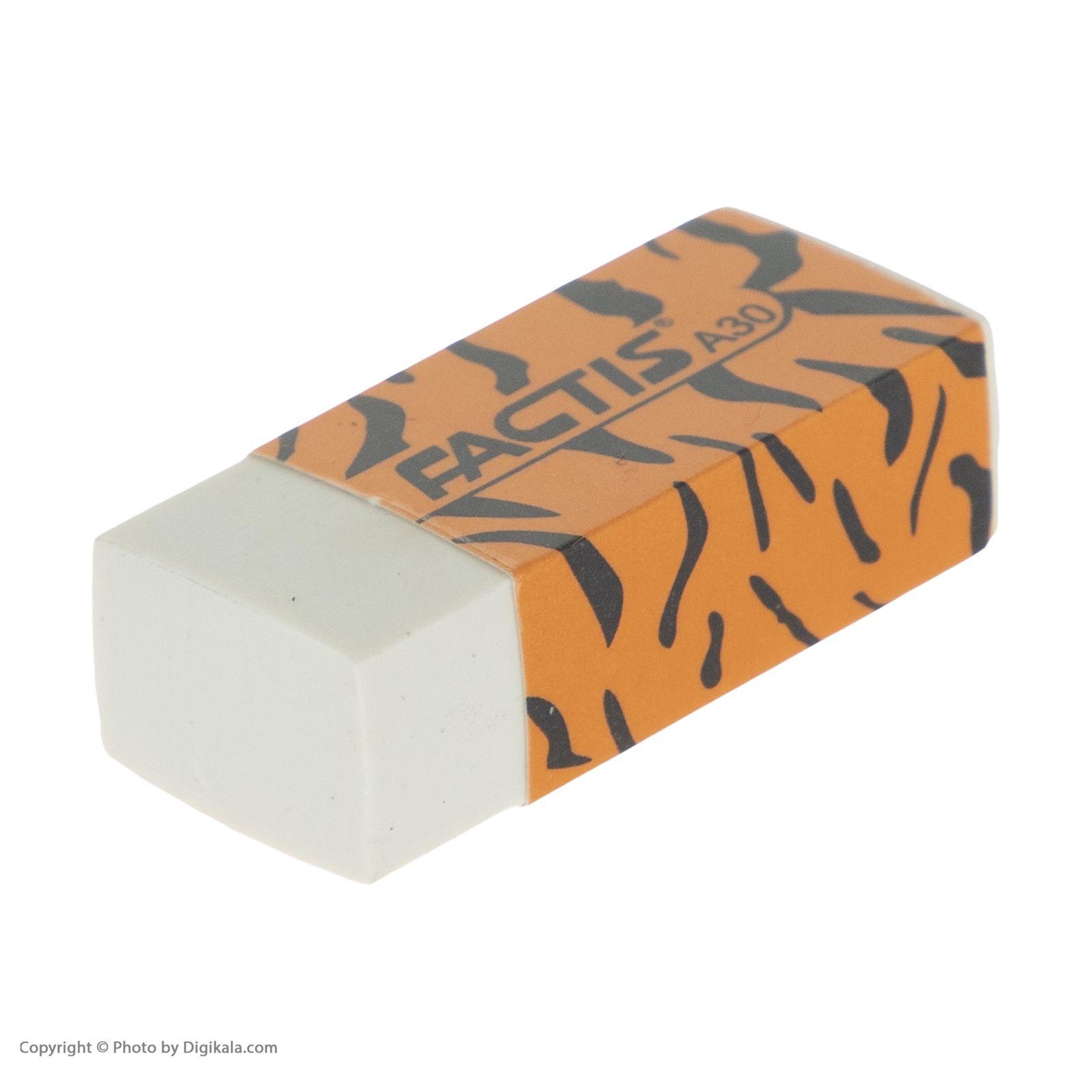 ست مداد مشکی و پاک کن فکتیس طرح ببر بسته 3 عددی main 1 4