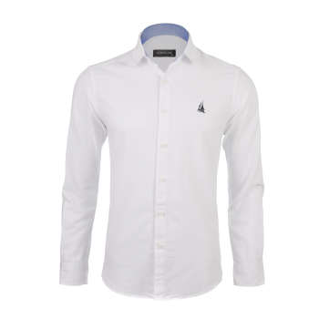 پیراهن آستین بلند مردانه ناوالس مدل PP-Gayeg-WH